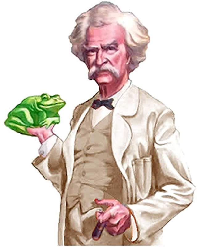 What is the theme of Mark Twain's